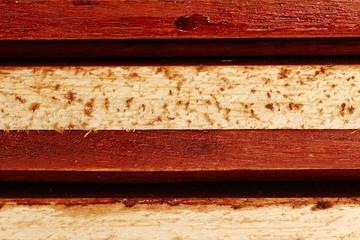 Wooden boards arranged horizontally