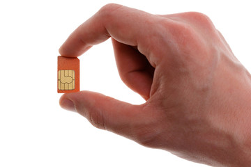 Sim in hand