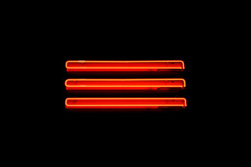 Three strips of neon