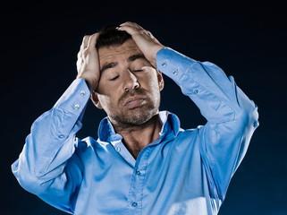 Man Portrait Despair Headache