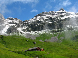 Alp in Swiss mountains
