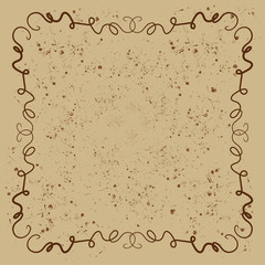 A brown squiggly background design.