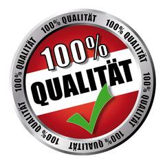 100% Qualität - Button