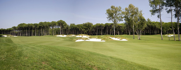 panorama of golf club, landscape
