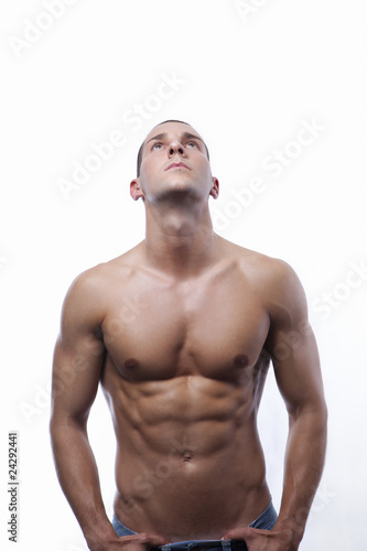 Young male's torso