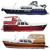 Motor yachts poster