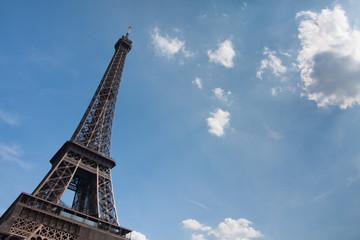 Eiffel tower. Blue sky
