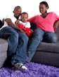 Young black family