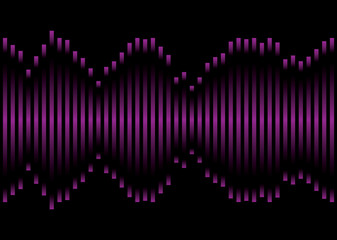purple music equaliser