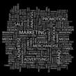 MARKETING. Wordcloud vector illustration.