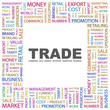 TRADE. Square frame with association terms.