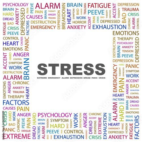 STRESS. Square frame with association terms.