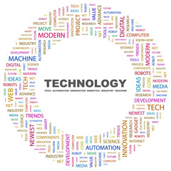 TECHNOLOGY. Circular frame with association terms.
