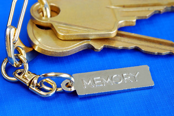 Keychain with the word Memory