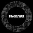 TRANSPORT. Circular frame with association terms.