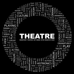 THEATRE. Circular frame with association terms.