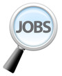 "Magnifying Glass Icon ""Jobs"""