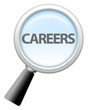 "Magnifying Glass Icon ""Careers"""