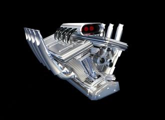 Moteur sport auto 3D