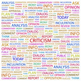 CRITICISM. Word collage on white background. poster