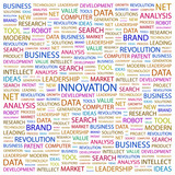INNOVATION. Illustration with different association terms. poster