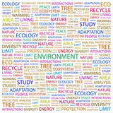 ENVIRONMENT. Wordcloud vector illustration. poster