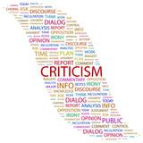 CRITICISM. Wordcloud vector illustration. poster