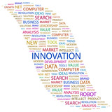 INNOVATION. Word collage on white background. poster