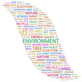 ENVIRONMENT. Word collage on white background. poster