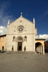 Umbria, Norcia, Basilica di S. Benedetto e Portico delle Misure