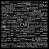 STRESS. Wordcloud vector illustration. poster