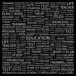 EDUCATION. Wordcloud illustration.