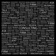 CONSULTING. Wordcloud vector illustration.