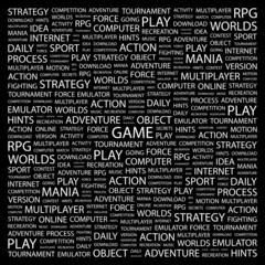 GAME. Wordcloud illustration.