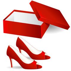 neue rote Schuhe