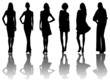 6 silhouettes of women /6