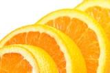 Close-up slice orange