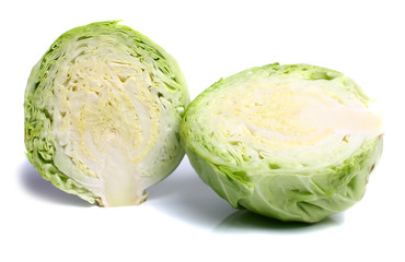 cabbage cut on two halves