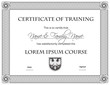 Certificate of Completion Template, Black on White