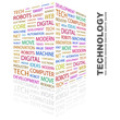 TECHNOLOGY. Wordcloud vector illustration.