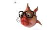 Poisson et lunettes