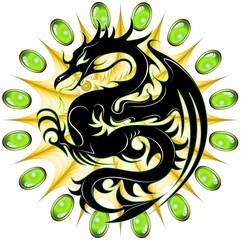 Drago di Smeraldo-Emerald Dragon-Dragon d'émeraude-Vector