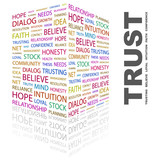 TRUST. Illustration with different association terms.