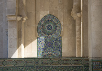 Casablanca - Moschea Hassan II  - decorazioni esterne