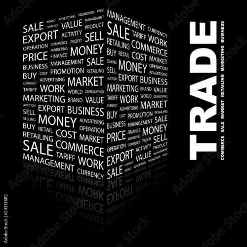 TRADE. Illustration with different association terms.