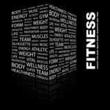 FITNESS. Illustration with different association terms.
