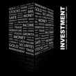 INVESTMENT. Illustration with different association terms.