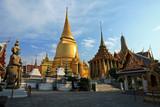 Golden Chedi at Wat Phra Kaew in Thailand poster