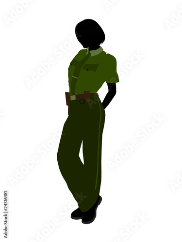 Female Sheriff Art Illustration Silhouette