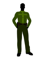 Male Sheriff Art Illustration Silhouette